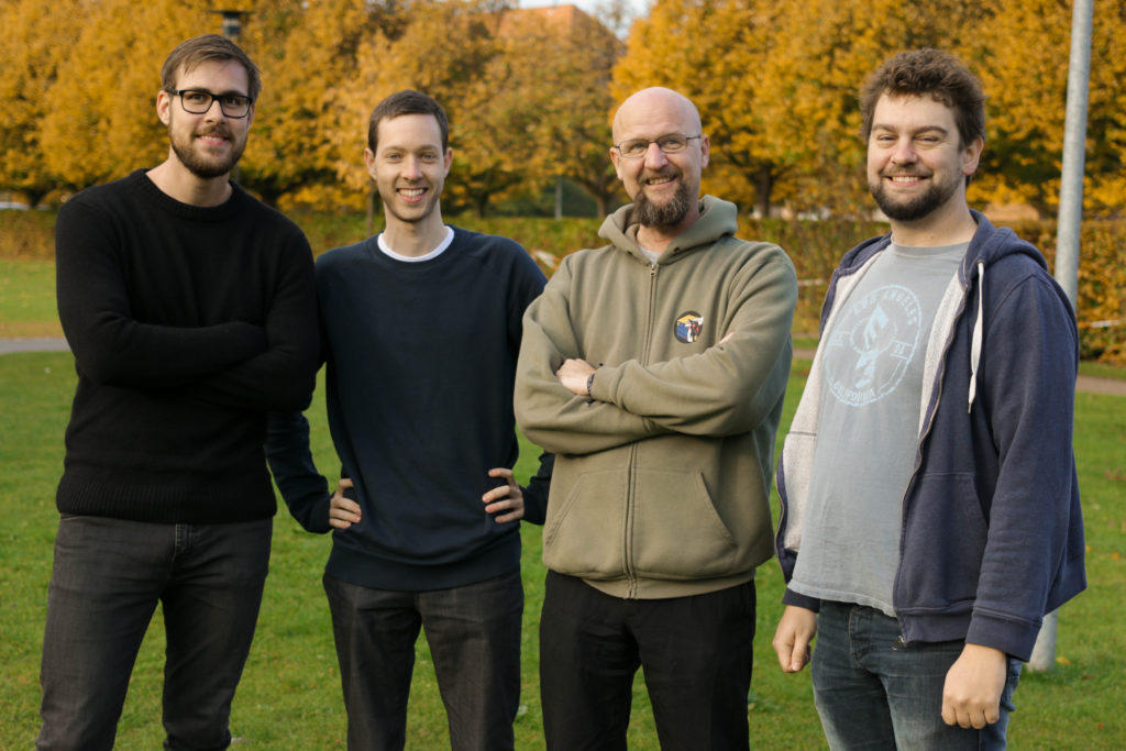 From left to right: Anders, Birk, Lars and Kristian