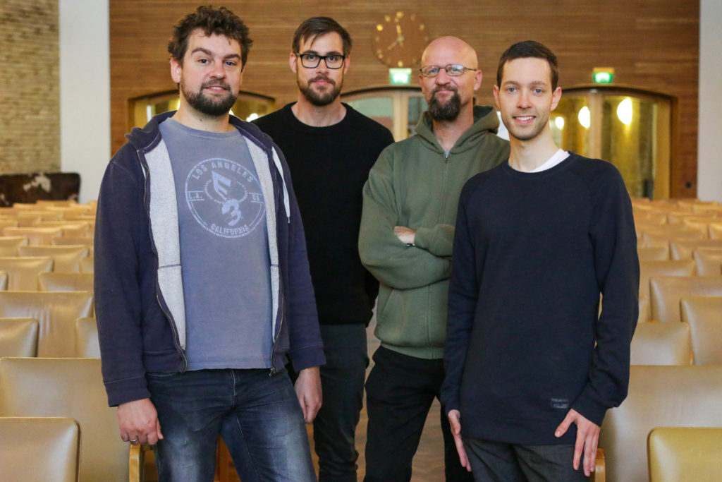 From left to right: Kristian, Anders, Lars and Birk.